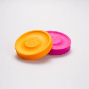 Mini-Frisbee in orange and pink